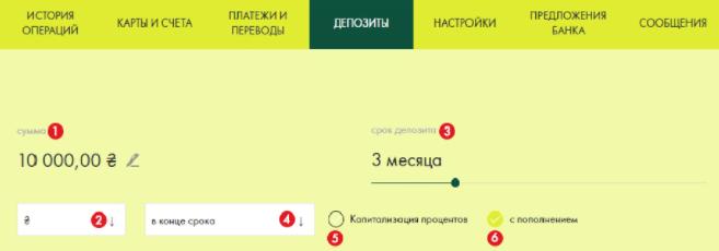онлайн депозит в ощадбанке